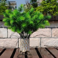 artificial pine branches - Decorative Flowers Artificial One Piece Branches cm Plastic Bouquet Plant Pine Needle Green Tree Leaf Home Yard Decor V501