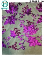 french lace - 2015 new design african swiss voile lace french net lace fabric with flower for lady dresses party evening HL7045
