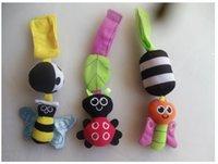 baby pram sets - Baby Crib Activity Toy Animal Baby Rattle Toys Cot Pram Stroller Set Baby Toys Months Ladybug Butterfly
