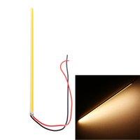 Wholesale Ultra thin Warm White W LED COB Chip Led Driving DRL Daytime Running Light Lamp Bar Strip Auto Car lighting V DIY Lamp