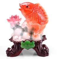 Wholesale Again and again for more than stylish home furnishing advanced resin imitation jade crafts Lucky Lucky Carp soft furnishings ins
