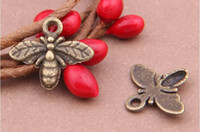bee bronze - Bronze Littie Bee Charms Necklace Pendants earrings Pendants DIY alloy Electroplating Charms Jewelry Findings Components