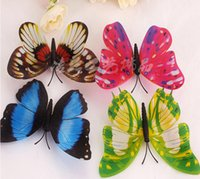 Wholesale Home Decoration Shinning Fake Butterfly Colorful Shop House Ormant Night Simulation Papillon Romantic Nature Christmas Decr PC Free Ship