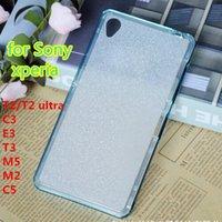 aqua powdered - Shimmering powder Soft Clear Gel Cover in1 Cases For Sony xperia m5 m4 aqua c5 c4 z5 m2 Bumper glitter Case XX0126
