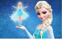 Wholesale Frozen Queen Elsa Flying Fairy Dolls Learning and Education Infrared Induction Control Flying Angel Dolls Baby Christmas gifts