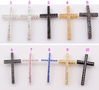 Crystal sideways cross charm - mm New Sideways Cross Connector Charms With Rhinestone Crystal For DIY Bracelet