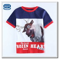 Wholesale Kids Frozen Cartoon T shirt for Baby Boys Short Sleeve Summer T shirt Children Boy Navy New Shirts Boys Clothes Cotton C5553Y