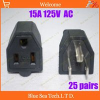 Wholesale pairs male female Neme P US plug socket rewirable Assembly Pin A V AC US Industrial Plug Hot sale