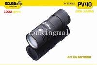 Precio de X vedio-Scubalamp PV40 100m linterna de buceo Foto/taringa luces de 4 X CREE XM0L2 2000 lúmenes 100 grados de haz de luz con indicador de encendido