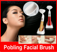 Wholesale POBLING Ultrasonic Vibrating Facial Deep Pore Cleansing Exfoliating Brush Deep Pore Cleaning Sonic Vibration Cleanser Face Brush for Skin