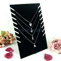 Wholesale Popular Black Velvet Necklaces Holder Show Case Display Stand Jewelry Display Base