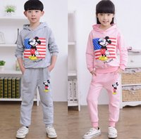 Wholesale 2015 fall of the new model of the new explosion of boys girls sports fashion cartoon mouse cotton suit