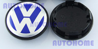 Wholesale 4 X Blue mm Wheel Centre Caps Badge Logo Sticker For Car order lt no track