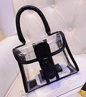 Nuevo bolso bolsas jalea de playa de moda transparentes de plástico impermeable mensajero bolsos portátiles Wholesale-2015
