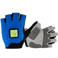 Wholesale 2016 New smart LED light bike gloves LED Light Bicycle Turn Signal Indicator LED clycling gloves outdoor sports gloves cycling half finger