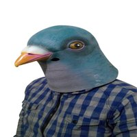 best pigeons - pc Rubber Latex Cyan Pigeon Head Funny Wacky Mask for Halloween Party Prop Best Selling AM0126
