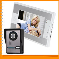 Wholesale 7 Inch Night Vision Digital Video Door Phone Intercom Doorbell Doorphone System with TFT LCD Color Monitor Outdoor Camera A5