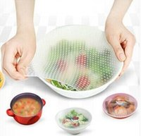 Wholesale 16 CM Food Grade Transparent Plastic Wrap Reusable Silicone Cling Film Multi Purpose Food Preservative Film