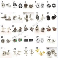 Wholesale 25 designs new Star Wars cufflinks Buttons Darth Vader stormtrooper Captain America Men fashion French Cufflinks