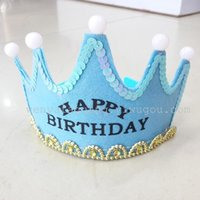 Wholesale Flash crown birthday crown party supplies woven crown