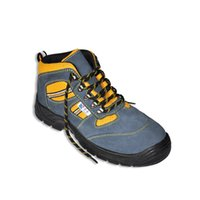 steel toe safety shoes - LA1078 Suede leather safety boots with steel toe cap