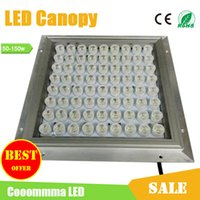 Wholesale LED Canopy Lights Gas Station Light W W W W W Bridgelux LED High Lumen IP65 Floodlights Outdoor Lights