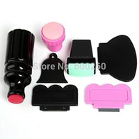Wholesale Large Small XL Double Ended Stamper Scraper Nail Art Stamping Plate Image Tool New order lt no tracking