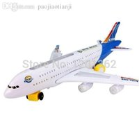 battery electric bus - A380 Air Bus Airline Battery Operation Flashing Light Music Electric Airplane Plane Model Toy Best Gift