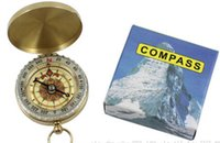 antique brass compass - Lowest Price Delicate Brass Pocket Watch Style Outdoor Camping Compass Golden Classic Antique