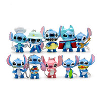 Wholesale 10pcs set Anime Figures Stitch Sets Keychains Toys cm High Stitch Action Figures Pendant Accessories