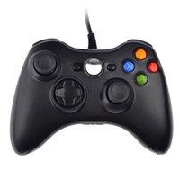 xbo 360 - Black Wired Game Hand Shank Joypad USB Controllers Gamepad for PC Microsoft XBO Windows