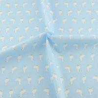 acrylic scrap - Light blue cotton fabric cmx160cm piece sewing cloth cartoon goose design scrap booking patchwork bedding tecido telas