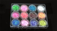 Wholesale High Quailty Colors Nail Art Glitter Shine Acrylic Powder Fine Dust Set