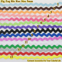 Wholesale Zig Zag Trims Ric Rac Ribbon Tape Zigzag Width mm meters roll DIY Accessories for Decorateing Garments Sew Material Handmade Item