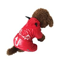 dog coats - Cute New Devil Man Style Pet Dogs Raincoat Pet coat dogs coat pet cloth dog cloth dog product