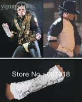 Wholesale MJ Michael Jackson ultimate collection bandage Dangerous White Cotton ArmBrace Punk glove for performance
