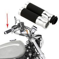 Wholesale Universal pit bike Motorcycle Hand Grips quot Throttle CNC Aluminum Rubber Handlebar Sports dirt bike Sport Bicycle