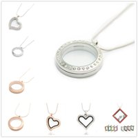 Wholesale Canlyn Jewelry Quality Glass Circle Magnetic mm Memory Floating Charm Locket Pendant Necklace DIY Jewelry Gift for Mom Girl
