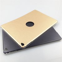 Wholesale Apple ipad Air ipad5 case stand tablet pc cases covers new ipad back covers slim leather case Transparent tpu and pu Fashion case