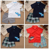 Wholesale Carter Brand new summer clothing set newborn baby boy clothes baby wear kids clothes sets t shirt pants suit