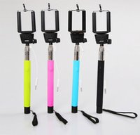 Wholesale new Handheld cable take Pole Monopod selfie stick Photograph icanany Z07 plus Shutter Camera Remote for iPhone ISO Samsung Android