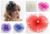 Wholesale Free DHL Fashion Women Hair Clip Cocktail Fascinator Decoration Colors Lady DIY Bow Clips Fashion Hair Accessories