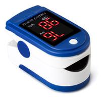 Wholesale LED Fingertip Pulse Oximeter Blood Oxygen SpO2 saturation oximetro monitor oxymetre pulso metros
