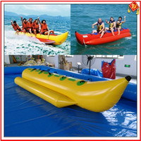 Wholesale 2016 hotsales Sports Outdoor Play inflatable banana boat with lowest price top quality by fedex freeshipping
