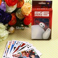 Wholesale Cartoon Movie Big Hero Baymax Robot Colorful Paper Puzzle Game Pokers Casino Playing Card Family Fun