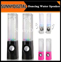 Cheap Dancing Water Speaker Music Audio 3.5MM Player for Iphone 4s 5s USB LED Light 2 in 1 USB mini Colorful Water-drop Show for iphone6 B