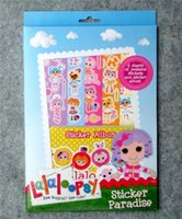 Wholesale La lalo sticker album notebook reusable stickers play games kids Learning Educational toys loop sy christmas gifts