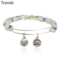 amethyst bracelet - Alex and Ani Assorted Shimmering Crystal Beaded Bracelets Antique Silver Expandable Stainless Steel Wire Charm Bangle NWT AA201525