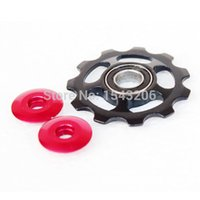 Wholesale NEW Arrival Road Mountain Bike Bicycle MTB Cycling T Aluminum Rear Derailleur Jockey Guide Wheel Pulley Blue Red