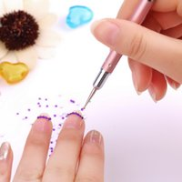 Wholesale 1pcs new Way Alloy Nail Art Marbleizing Dotting Painting Drawing Pen nail tools Drop Shipping